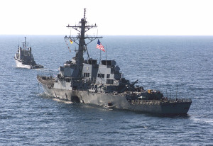 USS Cole damaged