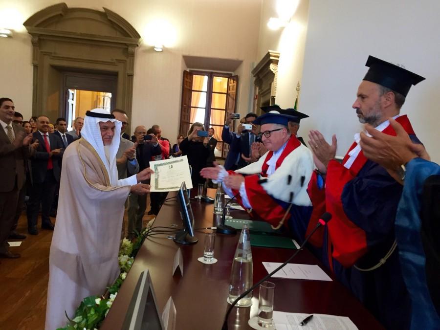 Turki insignito dall'università di Roma di Tor Vergata l'11 Settembre 2015
